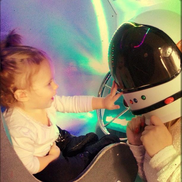 girl in spaceship
